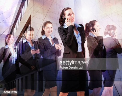 Multiple images of business woman : Stock Photo