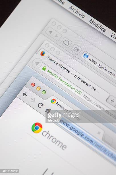 Multiple Internet Browser Welcome Web Pages