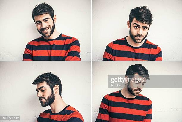 Viele Porträts junger Mann von Frankreich