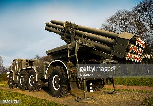 Multiple rocket launcher system  'Hurricane' : Stock Photo
