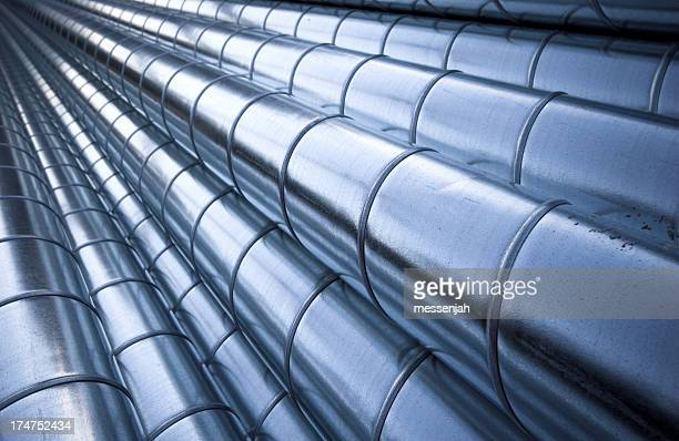 Multiple steel pipes on hydraulic system