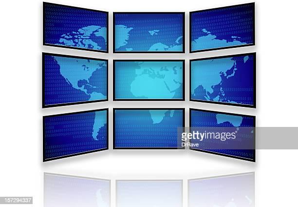 De nombreux téléviseurs à écran large et du monde