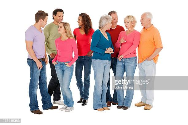 Multiracial Group In Casual Wear