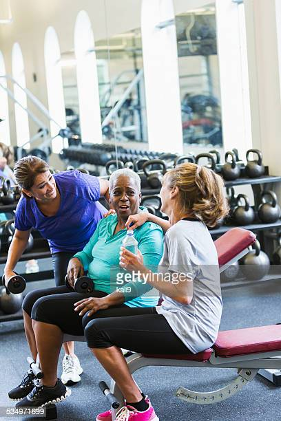 Multiracial group of mature woman at fitness center