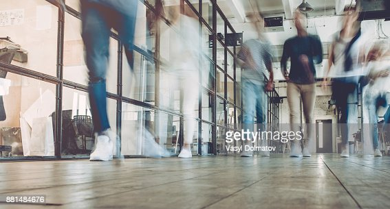 Multiracial young creative people in modern office. : Foto stock