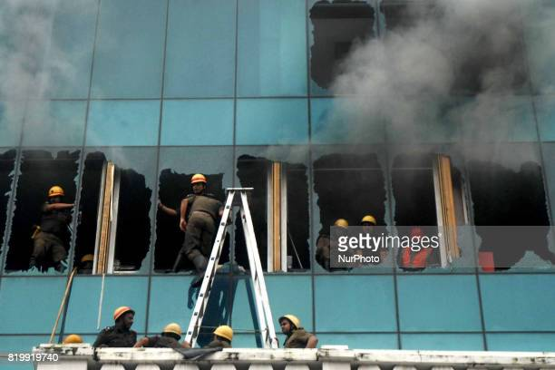 A multistoried building in Central Kolkata which houses a number of offices caught fire this afternoon Some of the glass panes had to be broken for...