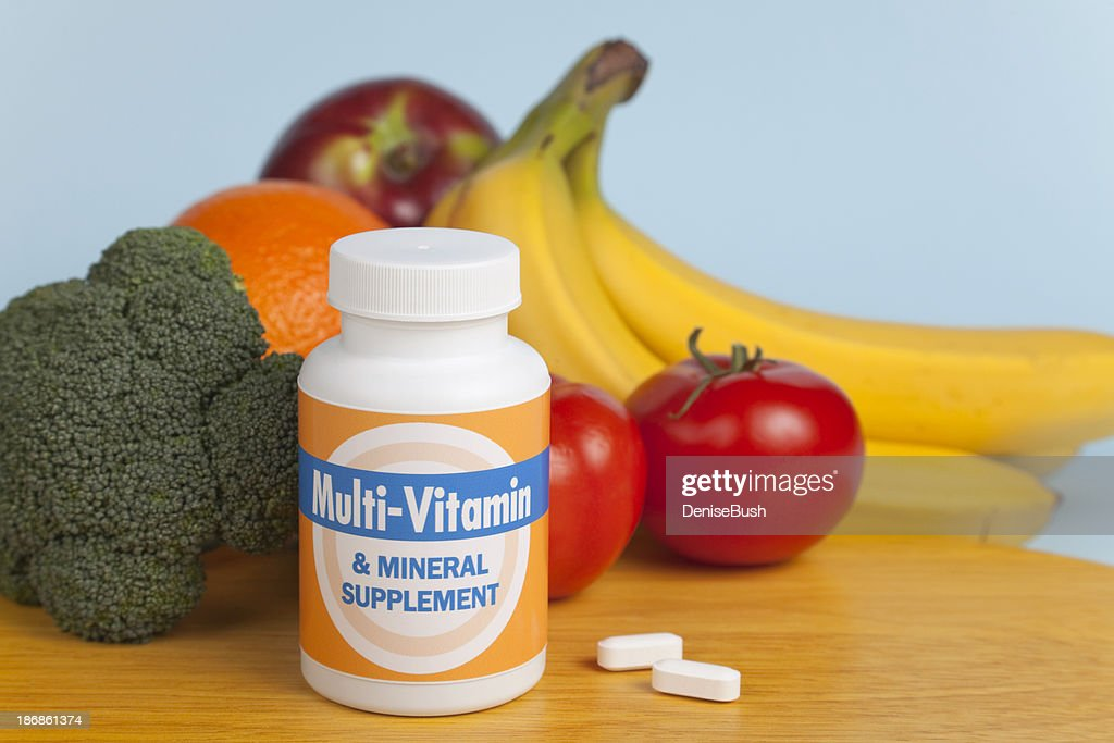 Multi-Vitamines avec des fruits et légumes : Photo