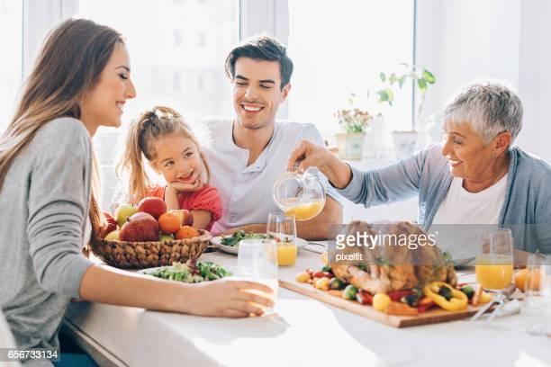 Multy-generation family on Thanksgiving