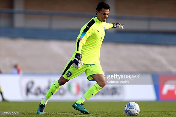 Mulyadi Emil Audero of Italy U20 in action during the Four Nations tournament match between Italy U20 and Germany U20 on November 10 2016 in Forli...