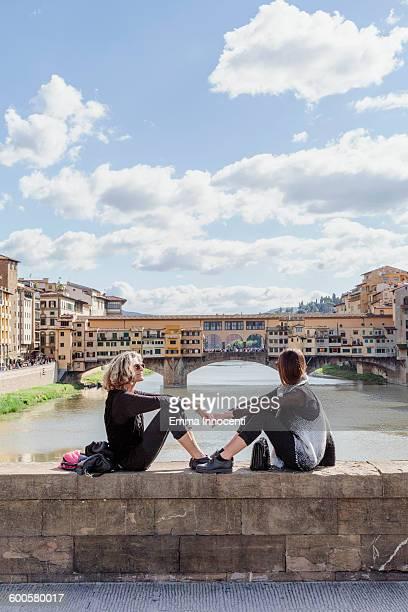 Mum and daughter at Old Bridge Florence