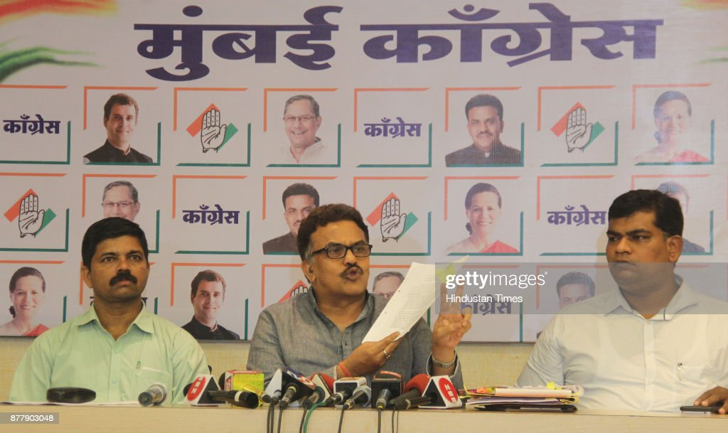 Press Conference Of Mumbai Congress President Sanjay Nirupam
