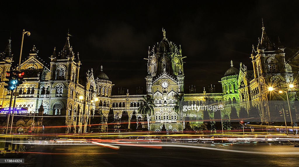 Mumbai CST at night, Mumbai, India