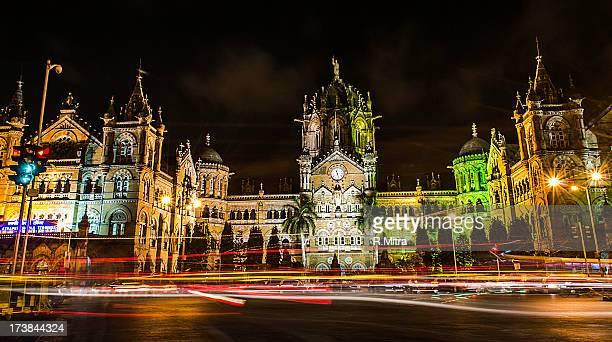 Mumbai CST at night, Mumbai, India