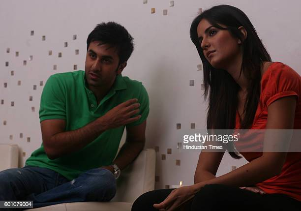 Bollywood actors Katrina Kaif and Ranbir Kapoor at Pure the organic food restaurant at Taj Lands End