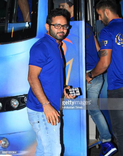 Mumbai Indians player Parthiv Patel during the party organised to celebrate Mumbai Indians' victory in the Indian Premier League 2017 on May 22 2017...