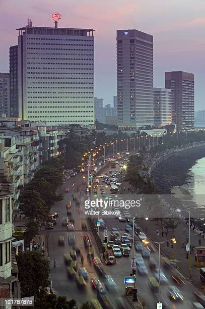 Mumbai, Marine Drive, Evening view