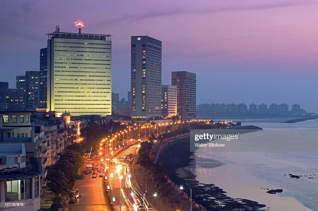 Mumbai, Marine Drive, Evening view : Stock Photo