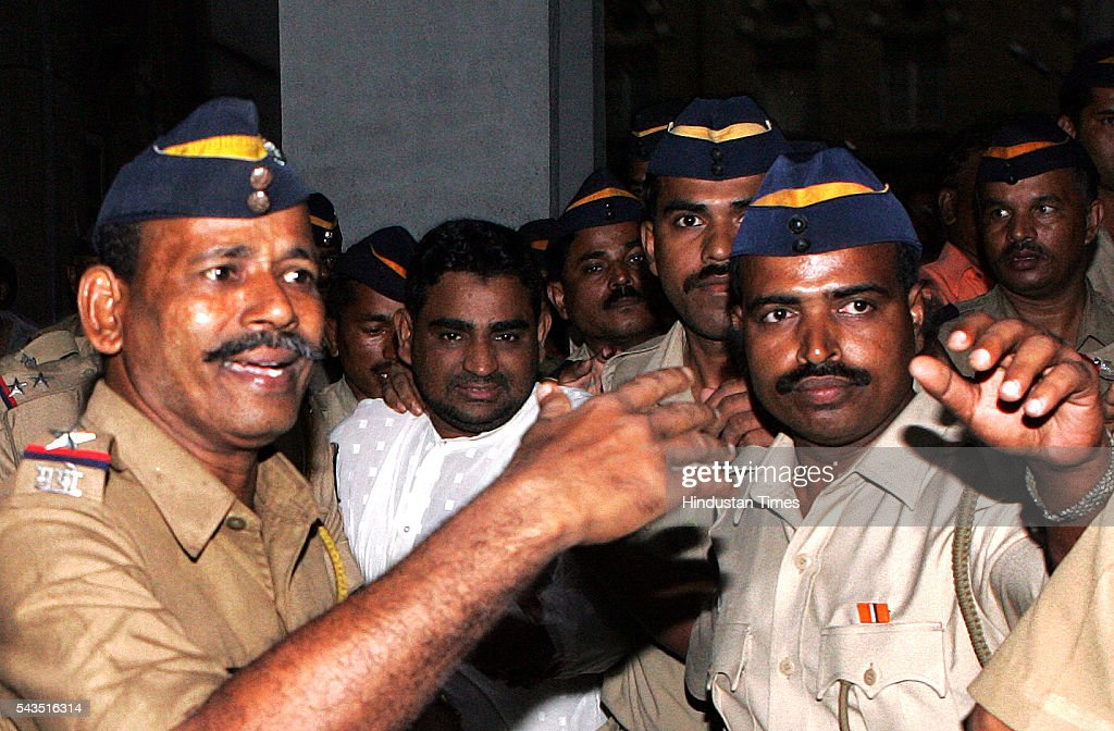 Mumbai Police takes into custody suspected Al-Qaeda operative Mohammad Afroze, after a special POTA court convicted him for the charge of developing terrorist links to create explosions worldwide on July 22, 2005 in Mumbai, India.