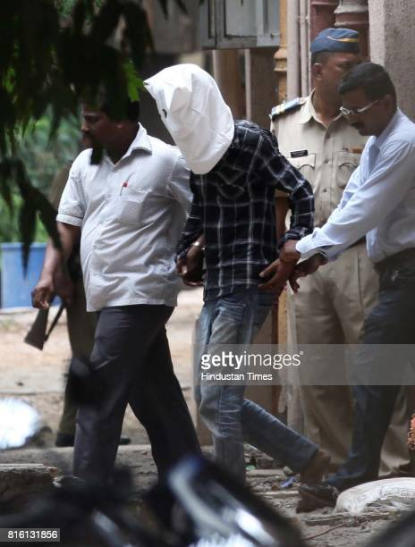 Mumbai Polices produce the two alleged shooters at Mazgaon court who fired shots near residence of fugitive don Dawood Ibrahim's brother Iqbal Kaskar...