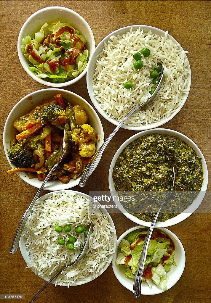 Mumbai Spice Lunch : Stock Photo