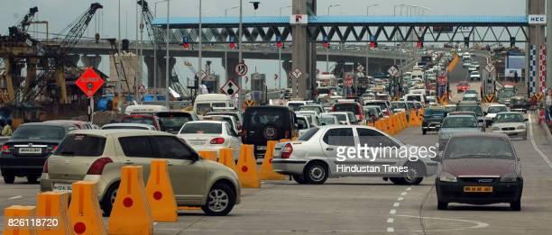 Mumbai Traffic Jam Bandra Worli Sealink Vehicles take a Uturn on the BandraWorli sea link increasing the traffic jam at on the route from Bandra to...