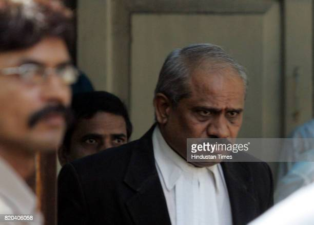 Mumbai's additional chief metropolitan magistrate NN Shrimangale after he came out of the police headquarters after extending the police custody of...
