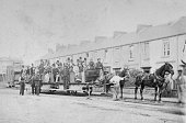 The world's first passenger train the Swansea and Mumbles Railway carries people from Swansea in south Wales to the seaside village of Mumbles 1864