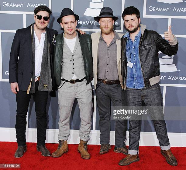 Mumford Sons arrives at The 55th Annual GRAMMY Awards at Staples Center on February 10 2013 in Los Angeles California