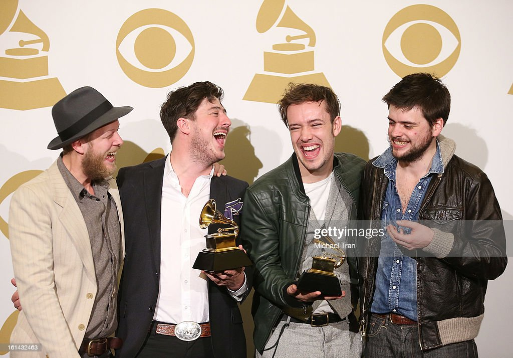Mumford & Sons attend The 55th Annual GRAMMY Awards - press room held at Staples Center on February 10, 2013 in Los Angeles, California.