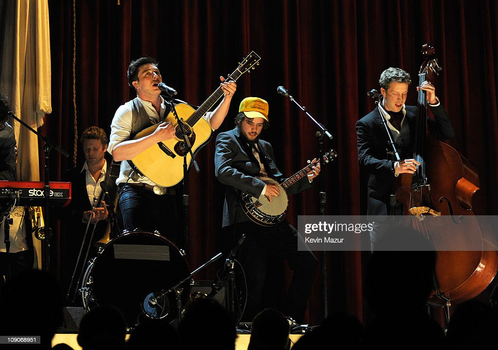 Mumford & Sons perform onstage during The 53rd Annual GRAMMY Awards held at Staples Center on February 13, 2011 in Los Angeles, California.