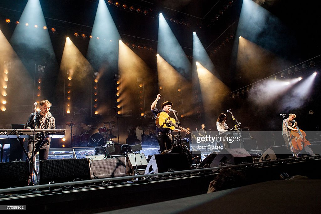 Mumford & Sons performs during the Bonnaroo Music & Arts Festival on June 13, 2015 in Manchester, Tennessee.