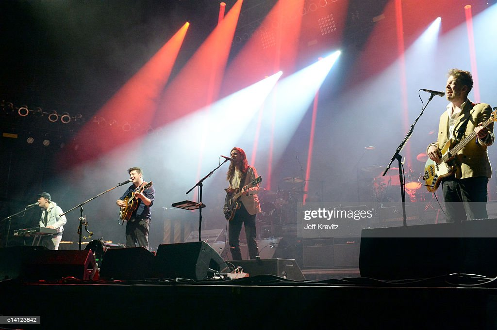 Mumford & Sons performs on stage at the Okeechobee Music & Arts Festival, Day 4, on March 6, 2016 in Okeechobee, Florida.