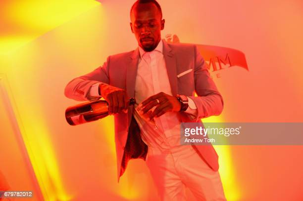H Mumm and Usain Bolt Toast to the Kentucky Derby on May 6 2017 in New York City