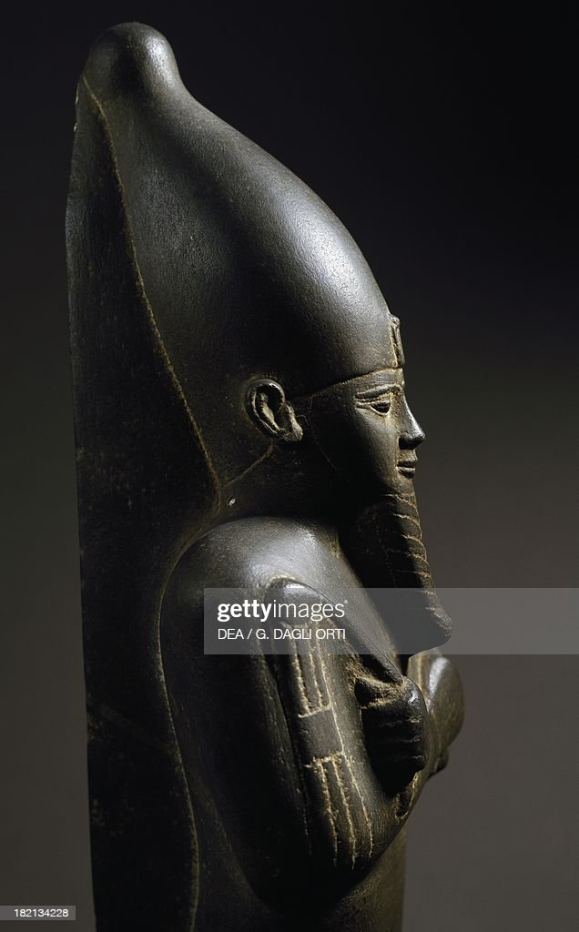 Mummified statue of the god Osiris with a sceptre and flail Egyptian Civilisation Late Period Turin Museo Egizio