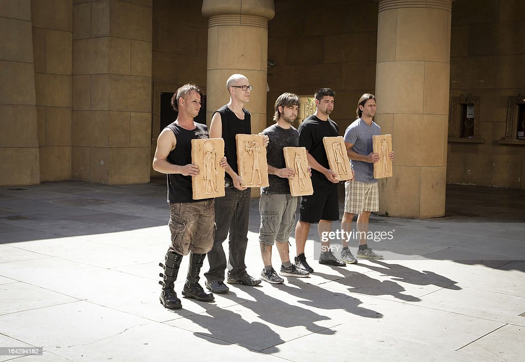 OFF -- 'Mummy Mahem' Episode 409 -- Pictured: (l to r) Eric Fox, David 'House' Greathouse, J. J. Anthony Kosar, Wayne Anderson, Kris Kobzina --