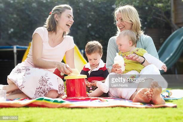 mums having a picnic