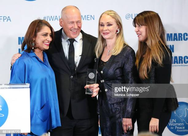 Muna Rihani AlNasser Peter Thomson Barbara Winston and Rema DuPont attend the 4th Annual UN Women For Peace Association Awards Luncheon at United...