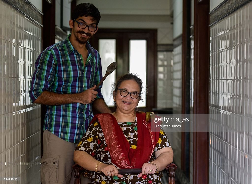Munaf Kapadia with his mother Nafisa, owner of The Bohri Kitchen (TBK), during an exclusive interview with ht48hours-Hindustan Times, at their Colaba home, on June 7, 2016 in Mumbai, India.