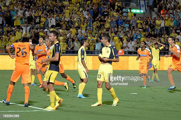 Munas Dabbur of Maccabi TelAviv FC in action during the UEFA Europa League group stage match between Maccabi TelAviv FC and APOEL FC held on...