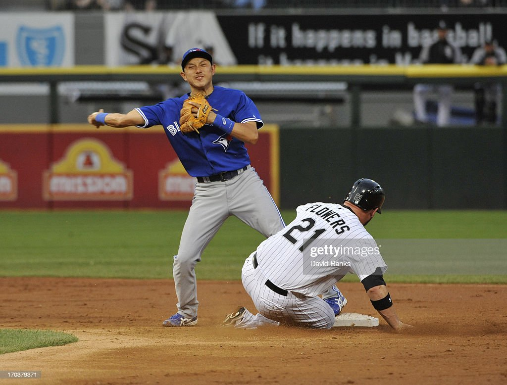 Munenori Kawasaki #66 of the Toronto Blue Jays in action against the Chicago White Sox on June 11, 2013 at U.S. Cellular Field in Chicago, Illinois.