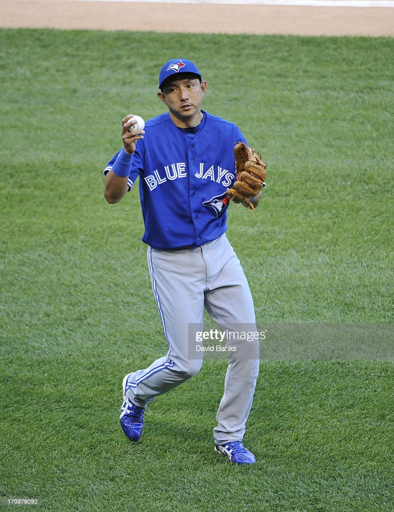 Munenori Kawasaki #66 of the Toronto Blue Jays plays against the Chicago White Sox on June 11, 2013 at U.S. Cellular Field in Chicago, Illinois.