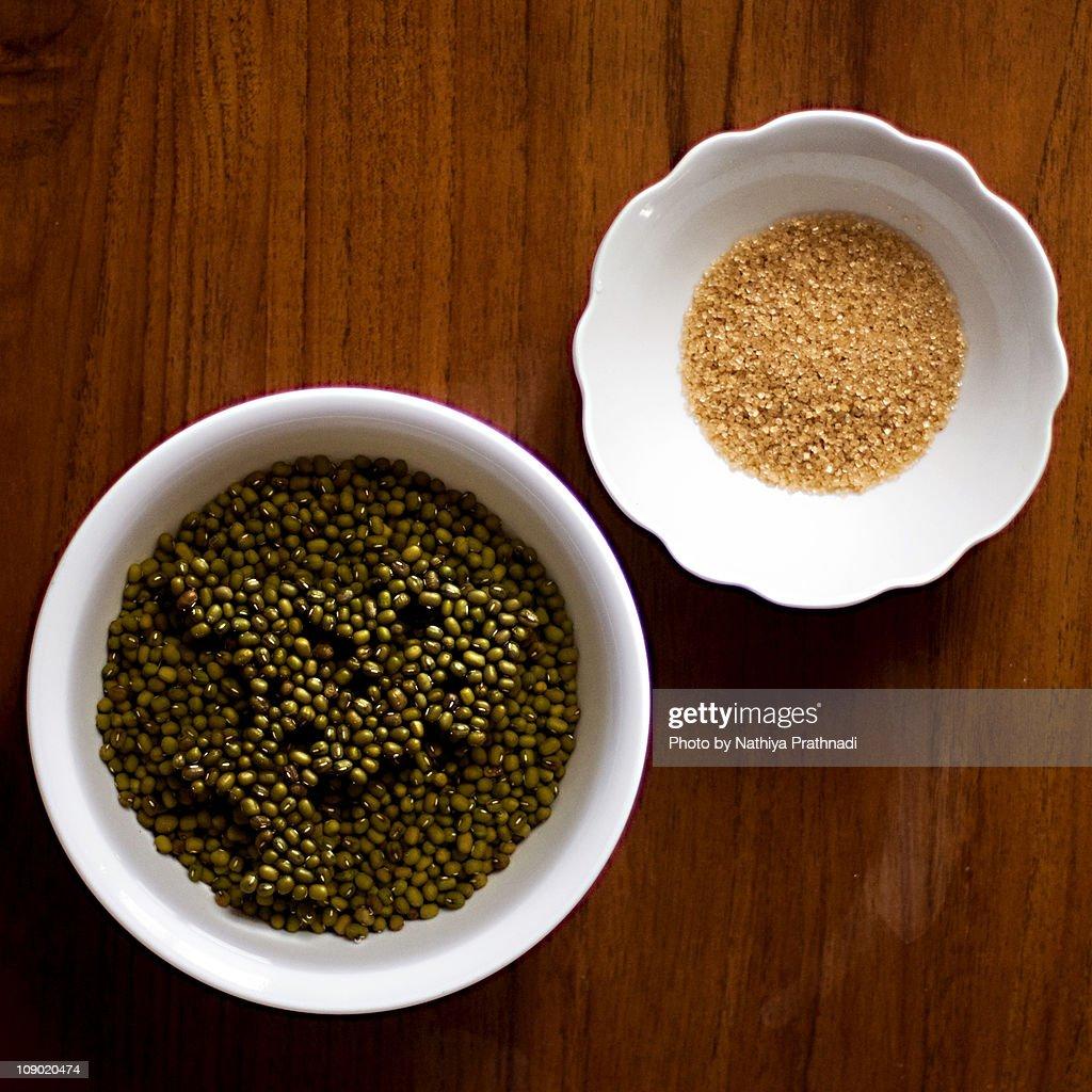 Mung Bean and Sugar : Stock Photo