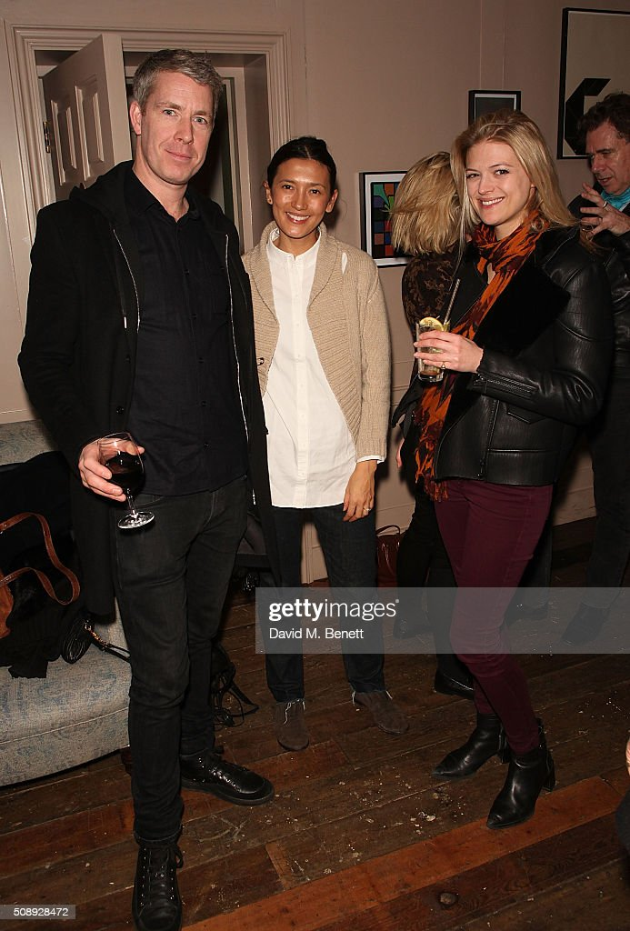 Mungo MacLagan, Hikari Yokoyama, and guest attend a special screening of 'The Uncountable Laughter of The Sea' at Soho House Dean Street on February 7, 2016 in London, England.