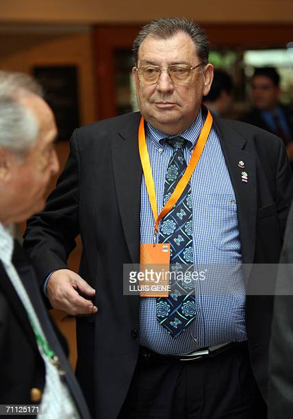 The president of Paraguay Football Federation Oscar Harrison is seen during the Conmebol Confederation's Congress 05 June 2006 in Munich after FIFA...