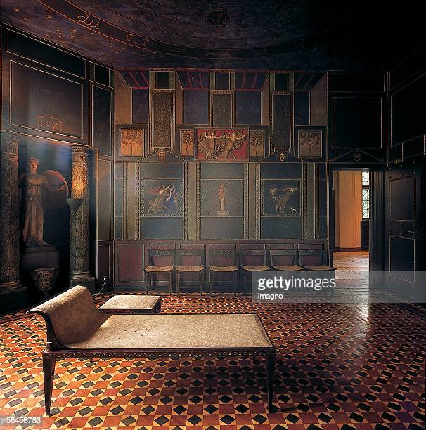 Munich Interieur of the Stuck villa the palace of the painter Franz von Stuck 1897/98 built and set up after his own designs Photography by Franz...