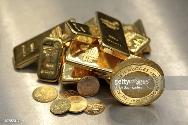 GERMANY Munich pro aurum gold house Munich 1000g gold coin 'Australian Nugget' 500g and 1000g gold bullion and gold coins continued
