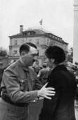 Munich Putsch commemoration Braunes Haus Munich Germany 9 November 1935 German Nazi leader Adolf Hitler consoles a woman widowed by Munich Beer Hall...