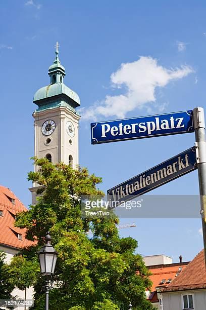 München Straßenschild-St. Petersburg-Florida