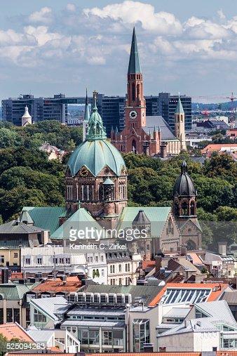 Munich view : Stock Photo