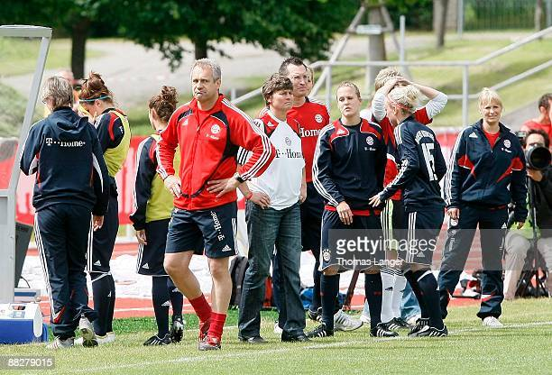 Munichs Assistant Coach Peter Kargus looks dejected after the Women's Bundesliga match between FC Bayern Muenchen and TSV Crailsheim at the...